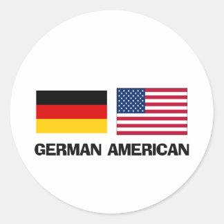Americano alemán pegatinas redondas