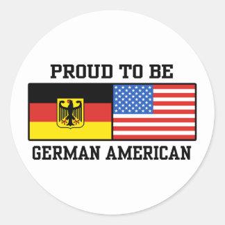 Americano alemán pegatina redonda