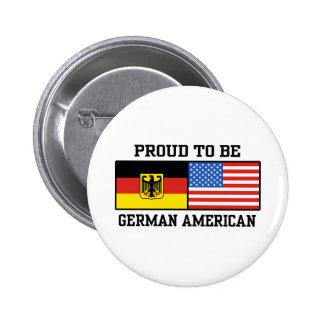 Americano alemán pin redondo 5 cm