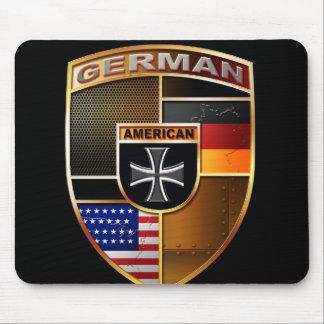 Americano alemán tapetes de raton