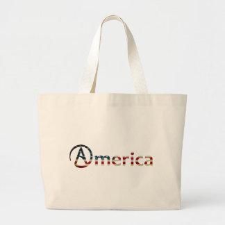 Americano ateo bolsa tela grande