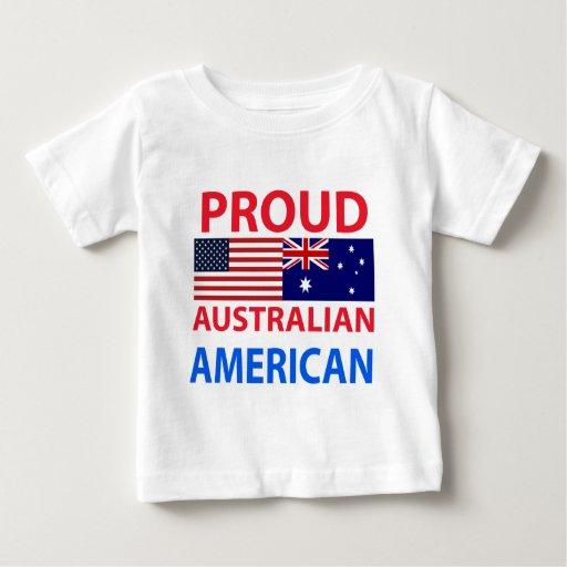 Americano australiano orgulloso playera