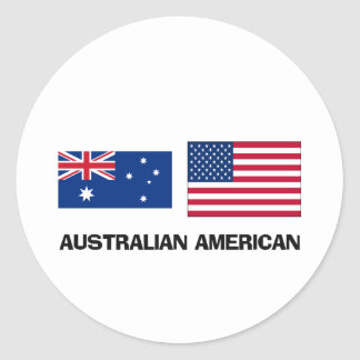 Americano australiano pegatina redonda
