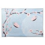 Americano azul MoJo Placemat de Sakura y de las ma Mantel