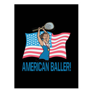 Americano Baller Tarjeta Postal