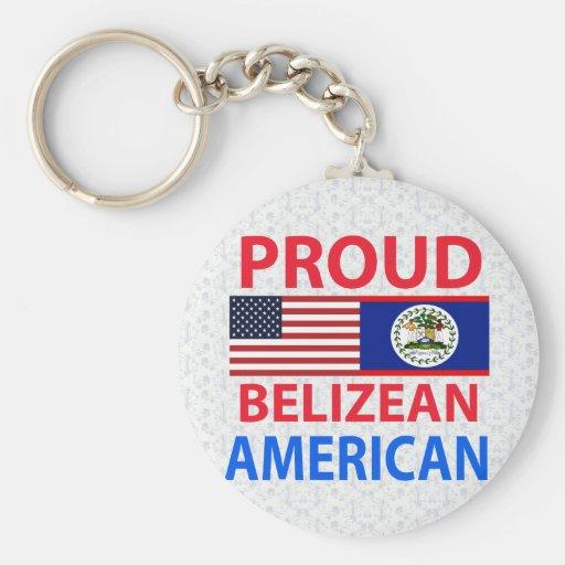 Americano beliceño orgulloso llavero personalizado