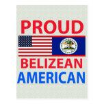 Americano beliceño orgulloso tarjeta postal