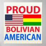 Americano boliviano orgulloso poster