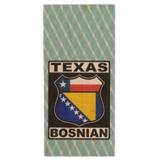 Americano bosnio de Tejas Memoria USB 2.0 De Madera