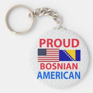 Americano bosnio orgulloso llaveros personalizados
