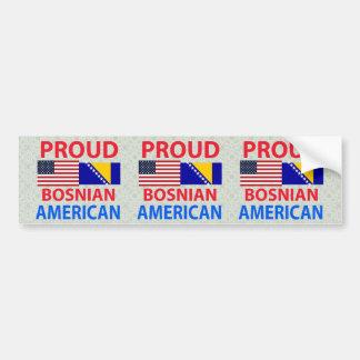 Americano bosnio orgulloso pegatina para auto