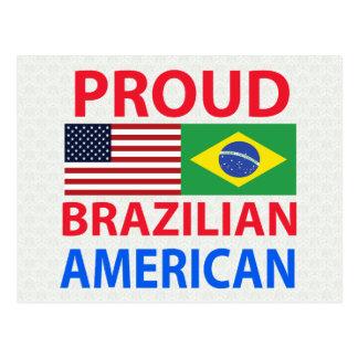 Americano brasileño orgulloso tarjeta postal