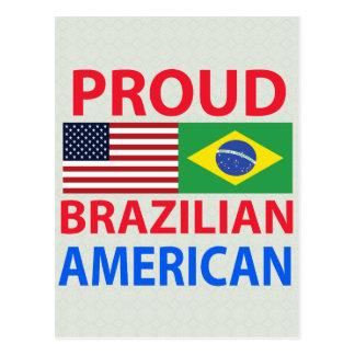 Americano brasileño orgulloso tarjetas postales