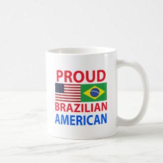 Americano brasileño orgulloso taza