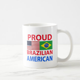 Americano brasileño orgulloso taza de café