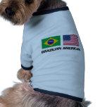 Americano brasileño prenda mascota