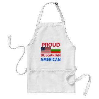 Americano búlgaro orgulloso delantales