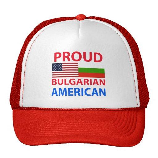 Americano búlgaro orgulloso gorros