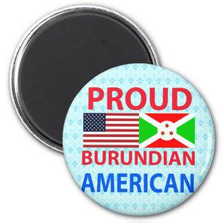 Americano burundés orgulloso iman de frigorífico