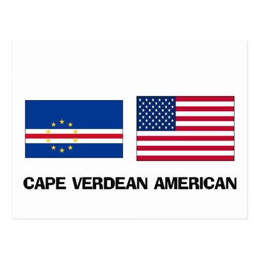 Americano caboverdiano tarjetas postales