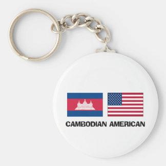Americano camboyano llavero personalizado