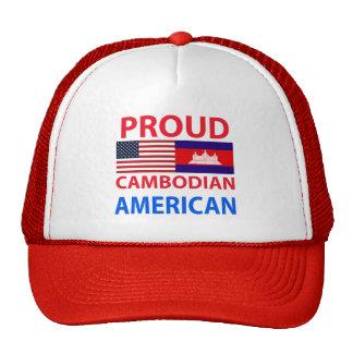 Americano camboyano orgulloso gorros
