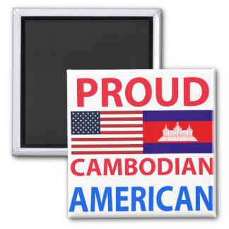 Americano camboyano orgulloso imán para frigorifico