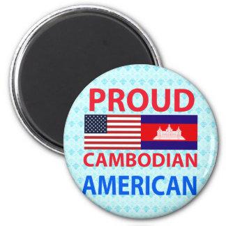 Americano camboyano orgulloso iman de frigorífico