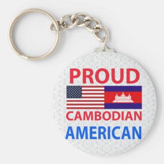 Americano camboyano orgulloso llavero personalizado