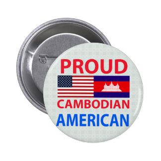 Americano camboyano orgulloso pins
