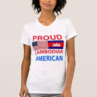 Americano camboyano orgulloso camiseta