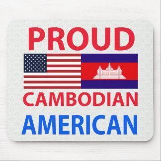 Americano camboyano orgulloso alfombrillas de raton
