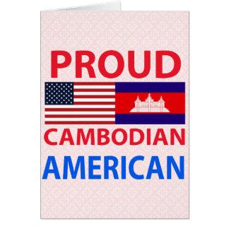 Americano camboyano orgulloso tarjetón