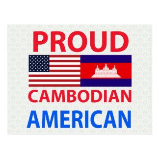Americano camboyano orgulloso postal