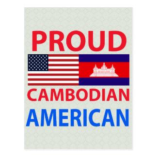 Americano camboyano orgulloso tarjetas postales