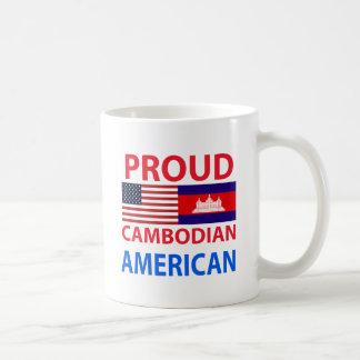 Americano camboyano orgulloso tazas de café