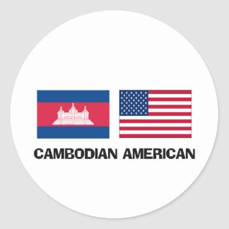 Americano camboyano etiquetas redondas