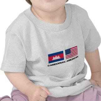 Americano camboyano camisetas