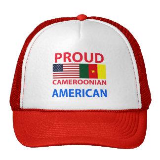 Americano camerunés orgulloso gorro de camionero