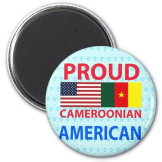 Americano camerunés orgulloso imán para frigorifico
