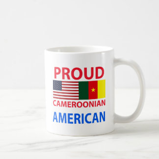 Americano camerunés orgulloso taza de café