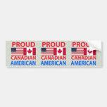 Americano canadiense orgulloso etiqueta de parachoque