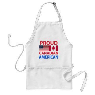 Americano canadiense orgulloso delantal