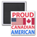 Americano canadiense orgulloso imán para frigorifico