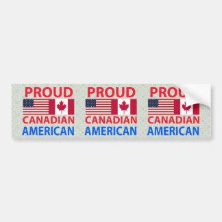 Americano canadiense orgulloso pegatina para auto