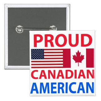 Americano canadiense orgulloso pin