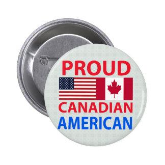Americano canadiense orgulloso pins