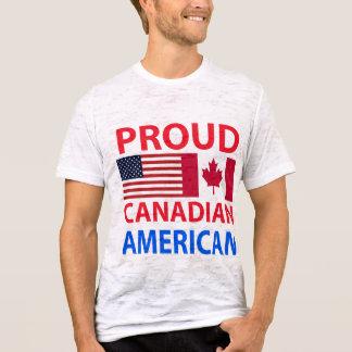 Americano canadiense orgulloso playera