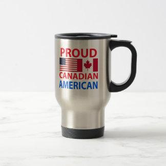 Americano canadiense orgulloso taza térmica