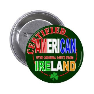 Americano certificado con las partes del diseño de pin